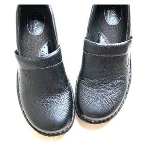 Cute BOC clogs black leather EUCsz 7.5m